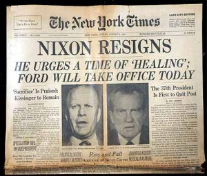 Watergate Front Page