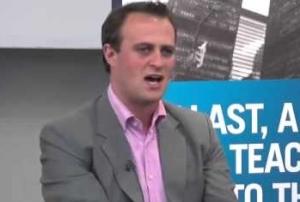 Tim Wilson blushing