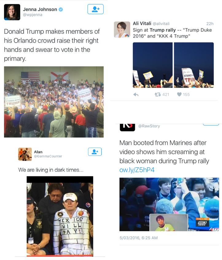 Trump Rally Tweets