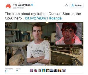 Duncan Storrar Australian tweet