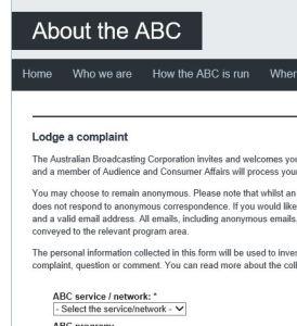 ABC Complaint